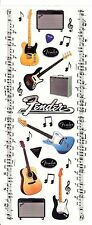 Paper House -  Fender Guitar 5x12 Scrapbooking Stickers