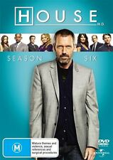 House, M.D. : Season 6 (DVD, 2010, 6-Disc Set) Region 4 Brand new TV Medical