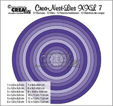 Crealies Crea-nest-Lies XXL Set No.7 ROUND BASIC Cutting Dies CLNest07XXL