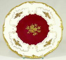 Reichenbach - 28cm piatto fasto piatto-Barocco-Rosso Oro-Turingia