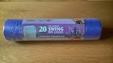 Large Lavender Fragrance Swing Bin Liners 50L thicker/stronger tie handle bags