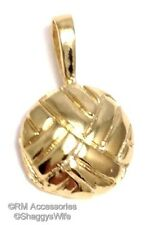 Volleyball Charm Volley Ball Pendant EP 24k Gold Plated  Lifetime Guarantee