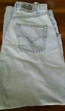 VINTAGE LEVI'S SILVERTAB FADED DENIM JEANS BAGGY MEN'S SIZE W33 L34