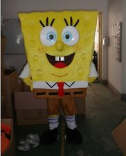 NEW Hot sponge bob Mascot Costume Adult SIZE free shipping to UK AU US CA Gift