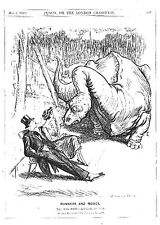 Brontosaurus.Manners and Modes.Dinosaur.Costume.1920.Punch cartoon.Park.Old