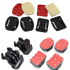 8Pcs Flat Curved Adhesive Mount Helmet Accessories For Gopro Hero 4/3+/3/2/1 Kit