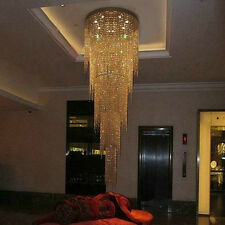 long Crystal LED crystal light chandelier ceiling pendant lamp fixtures 5 layers