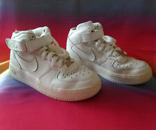 NIKE AIR FORCE 1 - 82 HI TOPS UK SIZE 3.5 EUR 36. White, Leather