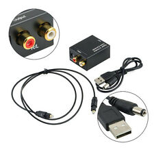 Digital Optical Coaxial Toslink Signal to Analog Audio Converter Adapter RCA MF
