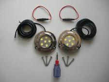 MARINE YACHT BOAT 2PCS of TRANSOM UNDERWATER 6W LED LIGHT LAMP WHITE SS316