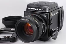 -Mint- Mamiya RB67 Pro SD with K/L 127mm f3.5 L and Spare Adapter from Japan 086
