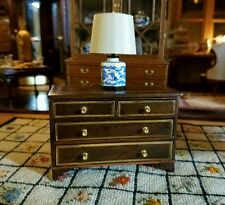 DOLLHOUSE MINIATURE ARTISAN SIGNED JIM TRAILL HILL LOW CHEST OF DRAWERS INLAID