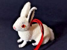 RARE West German White RABBIT CHRISTMAS Ornament animals KUNSTLERSCHUTZ Wagner