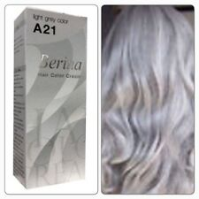Berina A21 Light Grey Color Gray Silver Color Permanent Color Hair Dye Cream