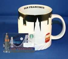 starbucks san francisco relief 16 oz. mug NWT with 2014 sf gift card ncv