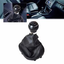Black 5 Speed Shifter Gear Shift Knob Gaitor Boot for VW CADDY II 2 MK2 TOURAN