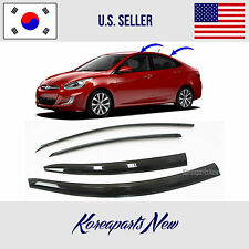 NEW SMOKED DOOR VISOR WINDOW SUN VENT DEFLECTOR HYUNDAI ACCENT SEDAN 2012-2016