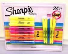 Sharpie Highlighter Smear Guard Markers 24 Pack Assorted Chisel Narrow Chisel