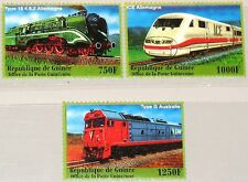 GUINEA 2001 3112-14 1928-30 Locomotives Lokomotiven Züge Trains Eisenbahn MNH