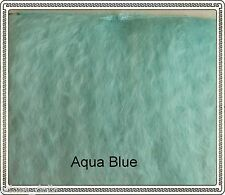 "Mohair Weft  Aqua Blue,  5"" - 6"" X 36""   Ideal for BJD dolls"