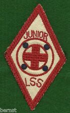 """VINTAGE  BOY SCOUT - RED CROSS JUNIOR LSS PATCH 3 x 5"""" - FREE SHIPPING"""