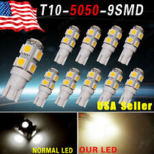 10 X Warm White T10 Interior lights 9 SMD 5050 LED lights 12V W5W 192 168 194