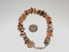 """Sterling Silver and 12x8mm Abalone Shell Nugget Bracelet 8 5/8"""" (7836)"""