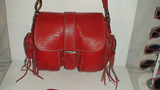 ROOTS #2] CHERRY RED   ALL LEATHER   EMILY  MEDIUM 4 POCKET BAG-PURSE-TOTE