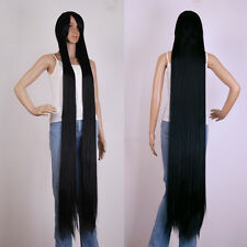 "60 ""(150cm)black Extra Long Cosplay wig Cosplay Party Costume Anime Hair"