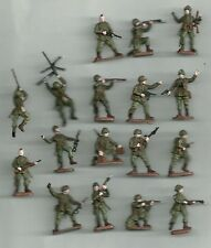 1/72 20mm Painted Soldiers WW2 SCREAMING EAGLES US PARATROOPERS  x 17