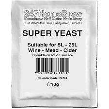 Super Wine Yeast 25L Homebrew Wine, Mead, Cider, Turbo-Cider, Ginger Beer