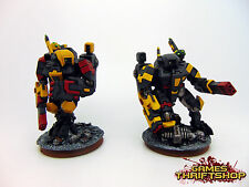 Warhammer 40k Tau Empire XV89 Crisis Battlesuit FORGE WORLD x 2 Painted