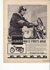 James Cadet 150 classic period motorcycle advert 1964