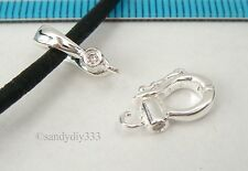 1x STERLING SILVER cz CHANGEABLE PENDANT CLASP SLIDER ENHANCER CONNECTOR #2424