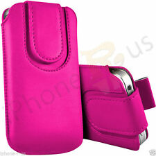 Magnetic Button Flip Pull Tab Leather Pouch Case Cover For  Nokia 230 Dual SIM