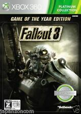 Used Xbox 360 Fallout 3 GAME  THE YEAR MICROSOFT JAPAN JAPANESE JAPONAIS IMPORT