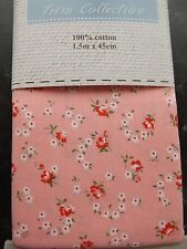 100% Cotton Mini Fabric Bolt Sewing Patchwork Quilting 1.5m x 45cm PINK