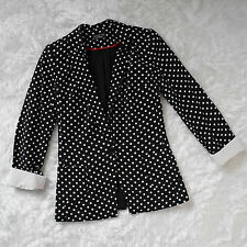 Polka Dot Jacket Blazer Smart Office Spotty S 8 Atmosphere Black & White Blogger