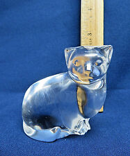 Villeroy Boch Crystal Glass Cat Figurine