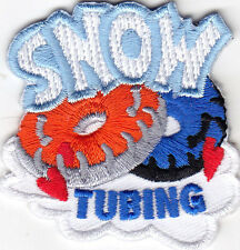 """""""SNOW TUBING - WINTER - SPORT - OUTDOOR FUN - IRON ON EMBROIDERED PATCH"""