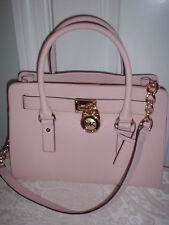NWT Michael Kors Hamilton Leather East West Satchel Handbag Blossom