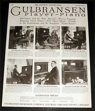 1920 OLD MAGAZINE PRINT AD, GULBRANSEN PLAYER-PIANOS FOR CHRISTMAS & YEAR ROUND!