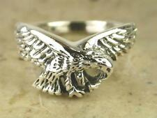 UNIQUE .925 STERLING SILVER DETAILED EAGLE RING size 10  style# r0250