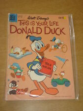FOUR COLOR #1109 VG+ (4.5) DELL COMICS THIS IS YOUR LIFE DONALD DUCK AUGUST 1960