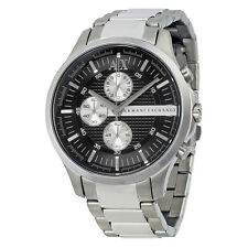 Armani Exchange Chronograph Black Dial Stainless Steel Mens Watch AX2152