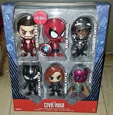 Hot Toys Captain America Civil War Cosbaby Team Iron Man W. SPIDER-MAN Set of 6