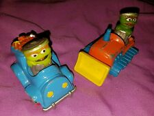 Sesame Street Muppets OSCAR THE GROUCH Vintage Toy Diecast Cars Lot Of Two