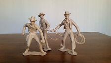 """Vintage LOUIS MARX Large Plastic Cowboy Law Man Figurine 6"""" Lot 3"""