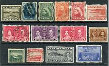Weeda Newfoundland 49//C19 Mint & Used collection, 1880-1943 issues CV $35.40