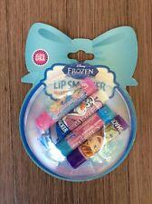 Disney Frozen LIP SMACKER 4pc Lip Balm Vanilla Mint Strawberry Coconut Grape